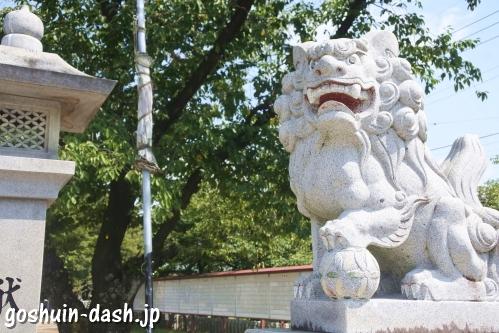 味美白山神社(愛知県春日井市)狛犬