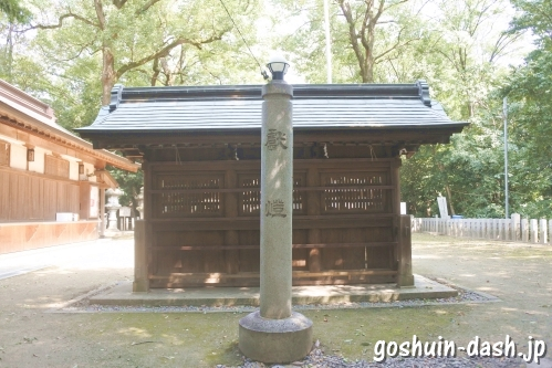 蕃塀(味美白山神社)