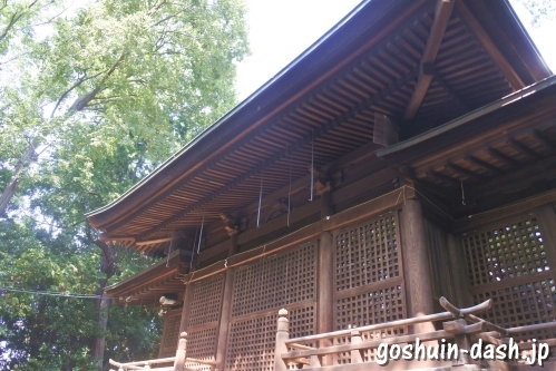 味美白山神社(愛知県春日井市)幣殿(社殿)