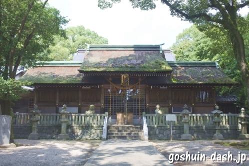野田八幡宮(愛知県刈谷市)社殿(拝殿)