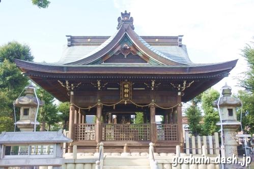 東宿明神社(名古屋市中村区)拝殿
