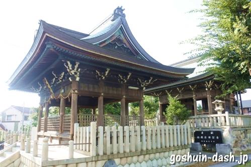 東宿明神社(名古屋市中村区)拝殿と幣殿