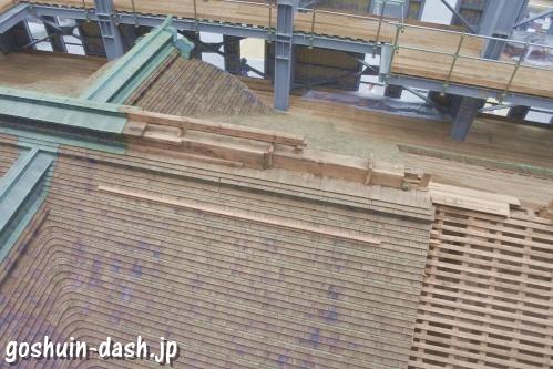 根本中堂(比叡山延暦寺)大改修の様子(屋根の葺き替え)