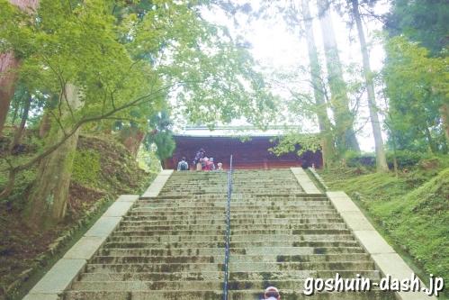文殊楼前の階段(比叡山延暦寺)