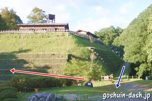 足助城跡公園(愛知県豊田市)全景