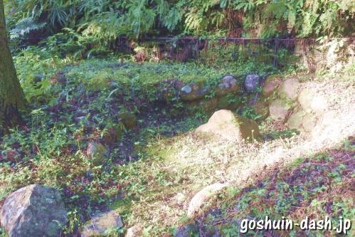 足助城跡公園(愛知県豊田市)井戸