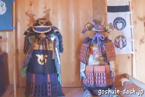 足助城跡公園(愛知県豊田市)本丸高櫓(天守閣)内の甲冑