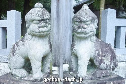 足助八幡宮(愛知県豊田市)狛犬
