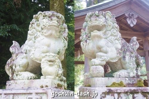 足助神社(愛知県豊田市)狛犬