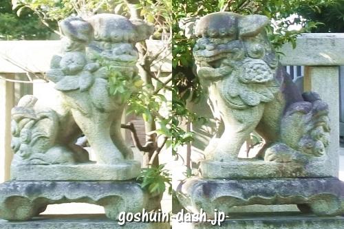 東宿明神社(名古屋市中村区)狛犬