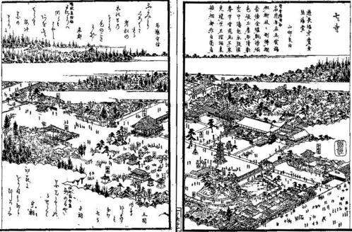 江戸時代後期の七寺(尾張名所図会・国立国会図書館デジタルコレクション)