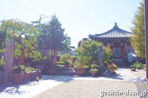 法花院(あま市甚目寺)境内庭園