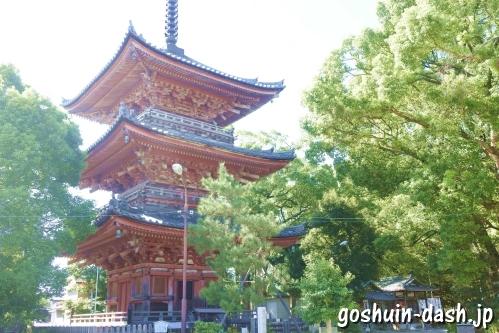 甚目寺観音(愛知県あま市)三重塔