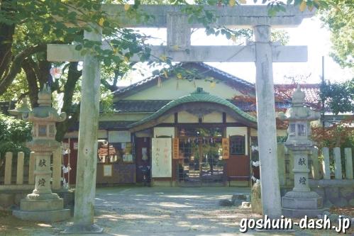 漆部神社(愛知県あま市)東鳥居(甚目寺観音側)