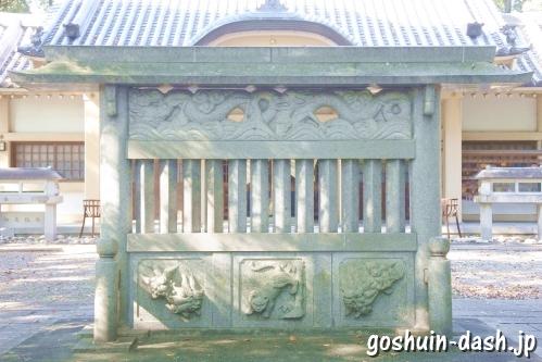 漆部神社(愛知県あま市)蕃塀