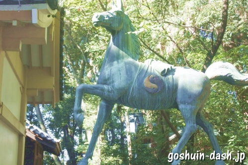 漆部神社(愛知県あま市)神馬