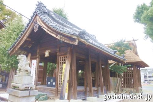 神明社(名古屋市中川区荒子町)拝殿(社殿全景)