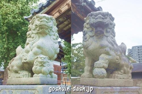 神明社(名古屋市中川区荒子町)狛犬
