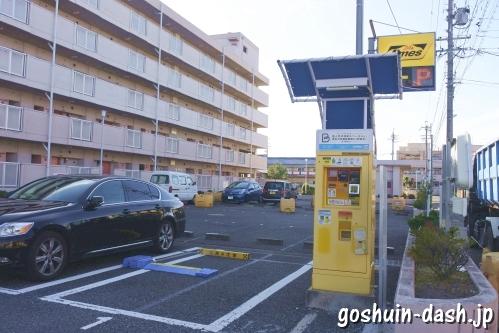 名古屋佛願寺近くの駐車場(コインパーキング・タイムズ乾出町)