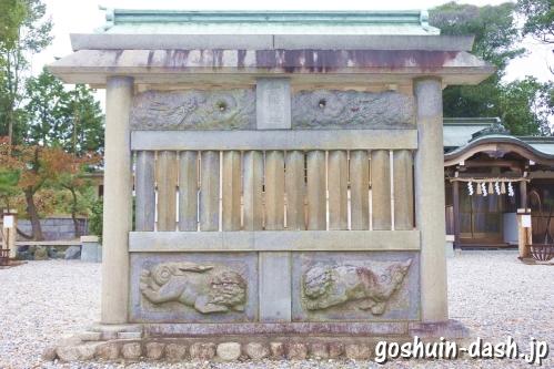 西一社貴船神社(名古屋市名東区)蕃塀