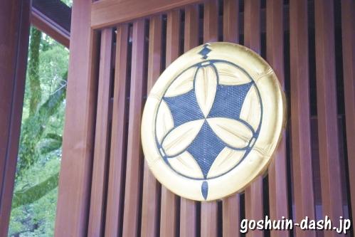 真清田神社(愛知県一宮市)神紋(楼門)