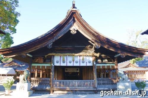 尾張大國霊神社(国府宮・愛知県稲沢市)拝殿