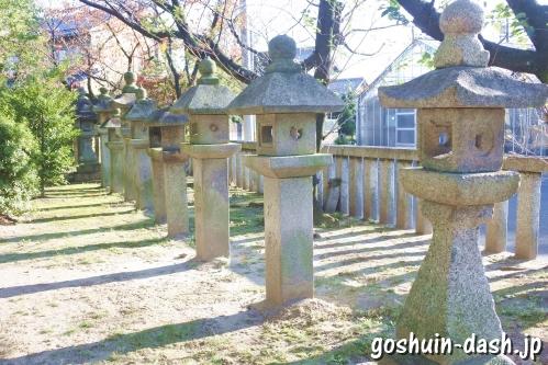 大神神社(愛知県一宮市花池)石灯籠