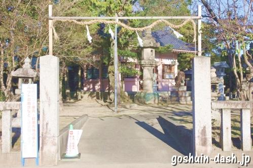 大神神社(愛知県一宮市花池)西入口