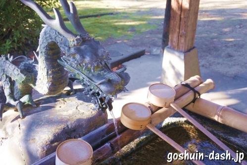 大神神社(愛知県一宮市花池)手水舎