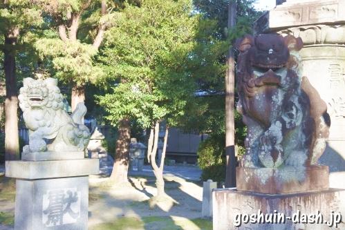 大神神社(愛知県一宮市花池)狛犬