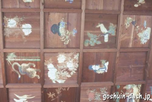 味鏡山天永寺護国院(名古屋市北区)不動堂天井画