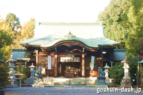 溝旗神社(岐阜市)拝殿