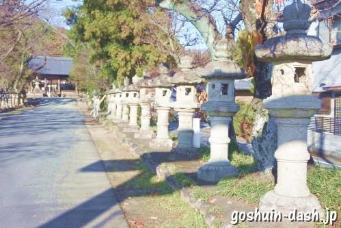 加佐美神社(岐阜県各務原市)参道(石灯篭)