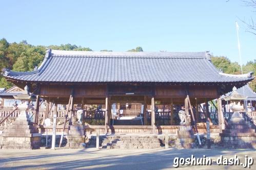 加佐美神社(岐阜県各務原市)拝殿