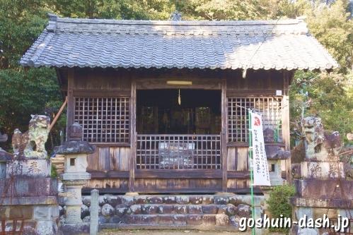 神明神社(岐阜県各務原市蘇原古市場町)拝殿