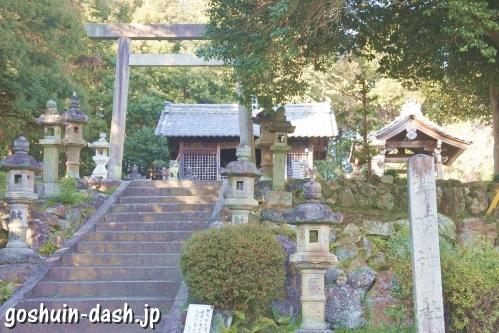 神明神社(岐阜県各務原市蘇原古市場町)全景