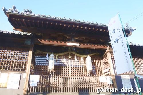 加佐美神社(岐阜県各務原市)幣殿