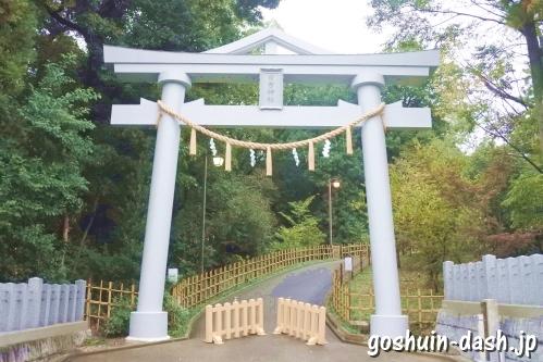 上社日吉神社(名古屋市名東区)駐車場(東鳥居)