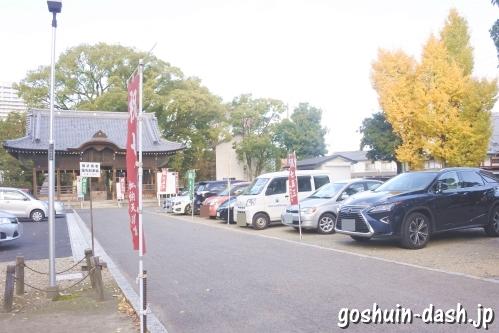 加納天満宮(岐阜市)駐車場