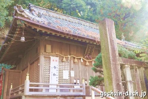 橿森神社(岐阜市)拝殿