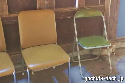 岐阜大仏(正法寺)大仏殿の椅子