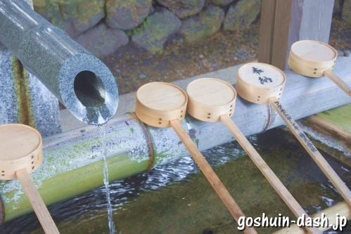 長良天神神社(岐阜市)手水舎