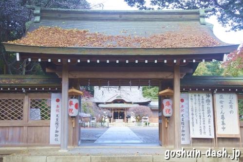 長良天神神社(岐阜市)神門