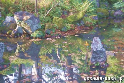 護国之寺(岐阜市)阿字観道場前の池