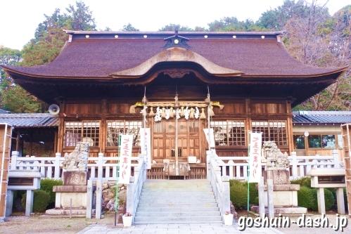 手力雄神社(岐阜県各務原市)拝殿