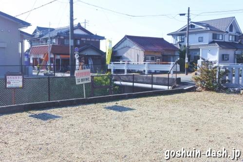御井神社(岐阜県各務原市)参拝者専用駐車場