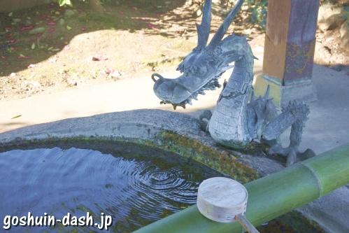 御井神社(岐阜県各務原市)手水舎