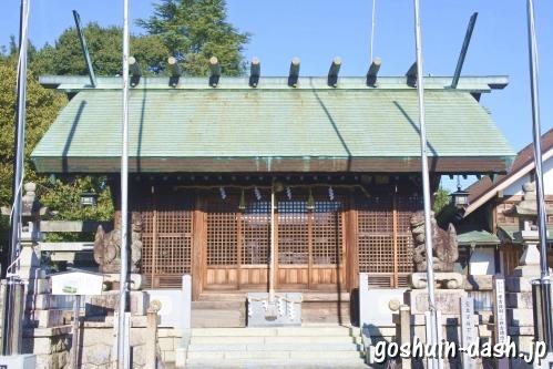 御井神社(岐阜県各務原市)拝殿