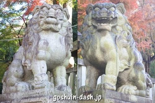 橿森神社(岐阜市)狛犬