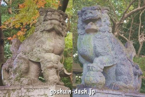 長良天神神社(岐阜市)狛犬